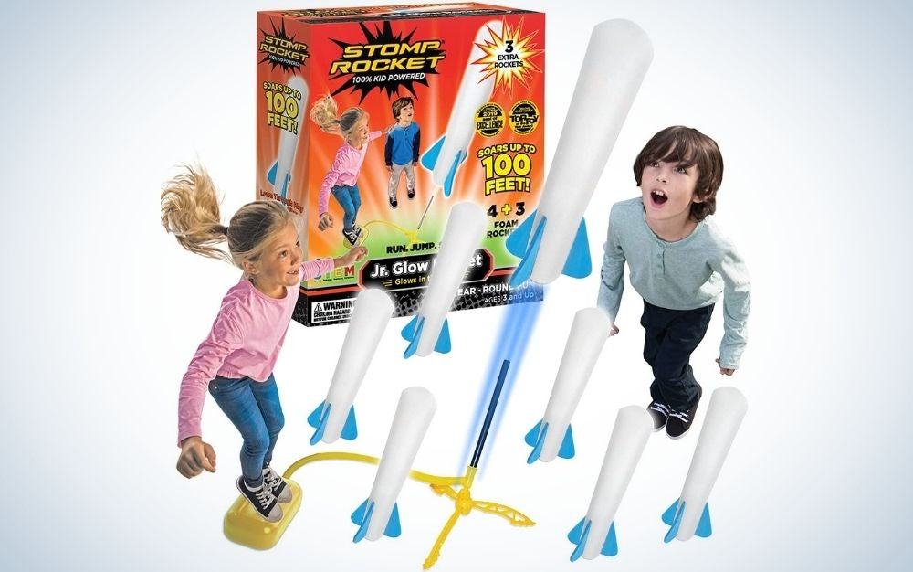 Glow Rocket and Rocket Reload Pack for Girls and Boys Ages 3 and Up
