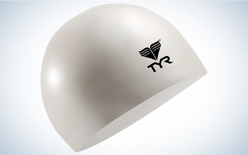 TYR Latex is the best budget swim cap.