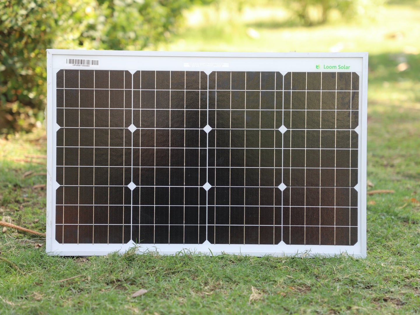 A small, portable solar panel for charging your devices.