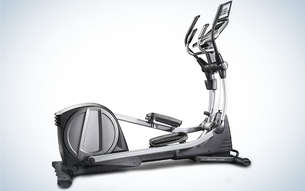 The NordicTrack Spacesaver Trainer is the best elliptical that's foldable.