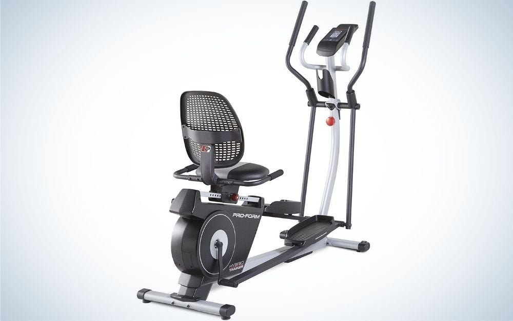 The ProForm Hybrid Trainer gets our vote for best elliptical.