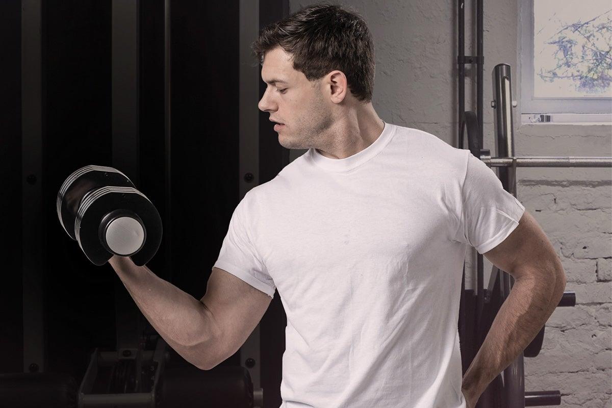 Man lifting weights