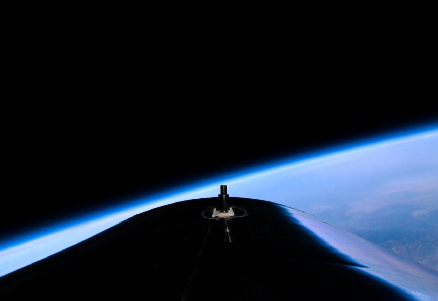 A view of Earth from Virgin Galactic Unity