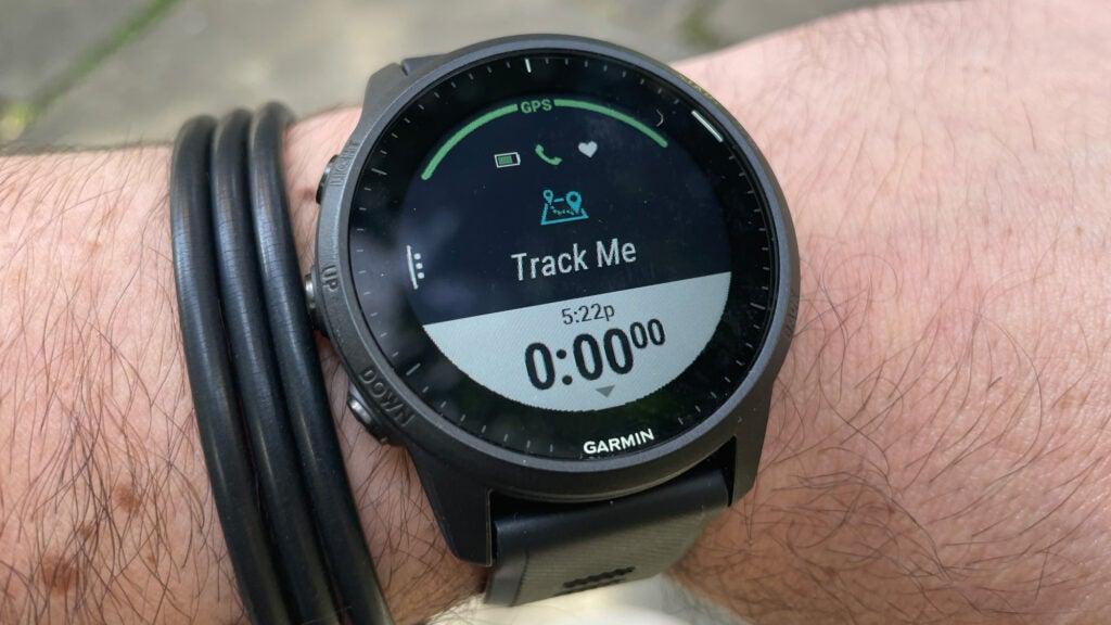 Garmin Forerunner 945 LTE on a wrist