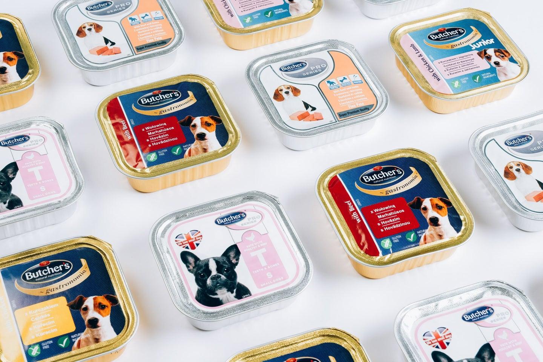 tins of dog food