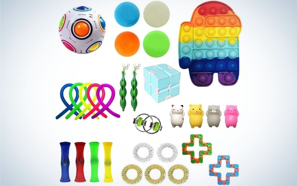 Several different color games for people looking to relieve their stress as well as develop people with special skills, including ball, spiral, formative and some other toys.