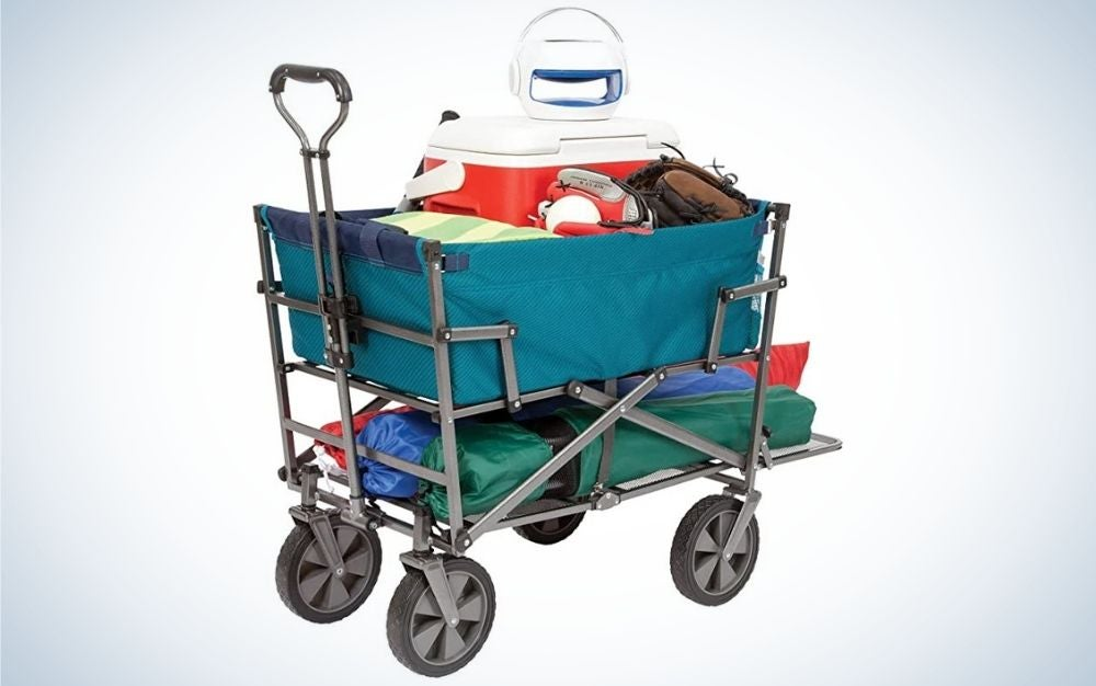 The MacSports Utility Cart is our pick for best double-decker beach wagon.