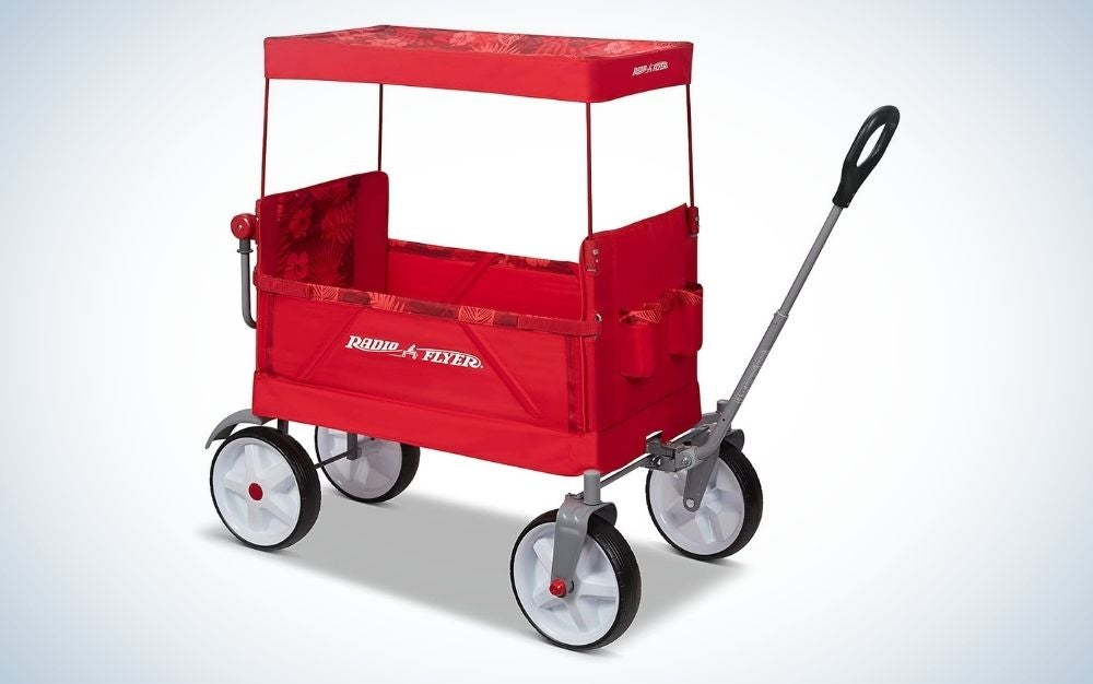 The Radio Flyer Beach and Boardwalk Wagon is the best kids beach wagon.