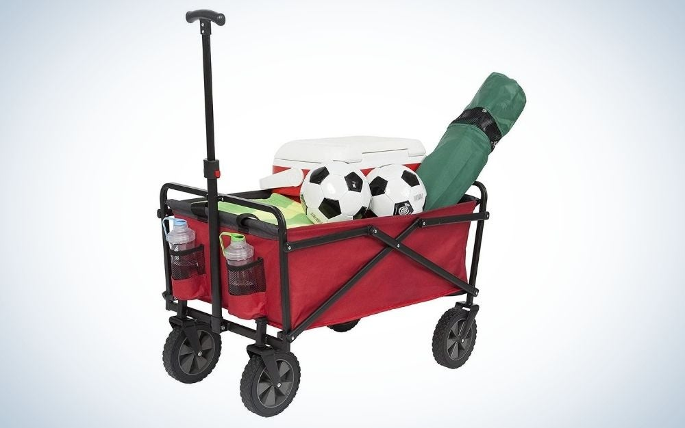 The Seina Folding Wagon is our pick for best budget beach wagon.