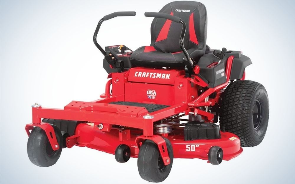 The Craftsman 50-Inch Hydrostatic is the best zero-turn mower for comfort seekers.