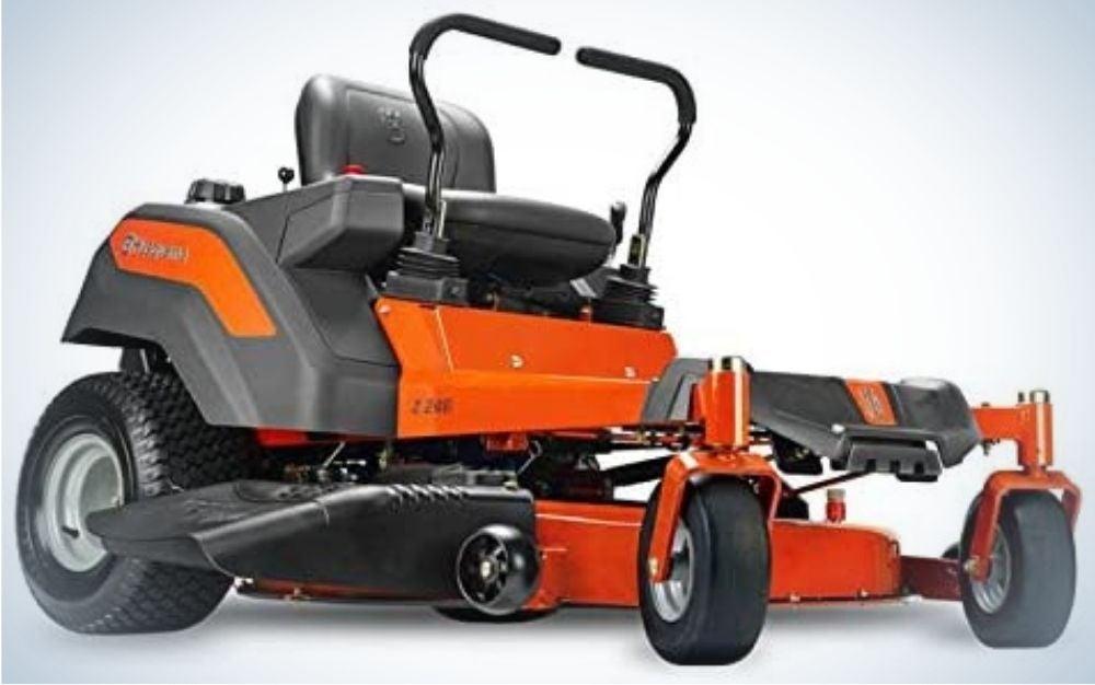 The Husqvarna Z246 Zero Turn Lawn Mower is our best budget pick.