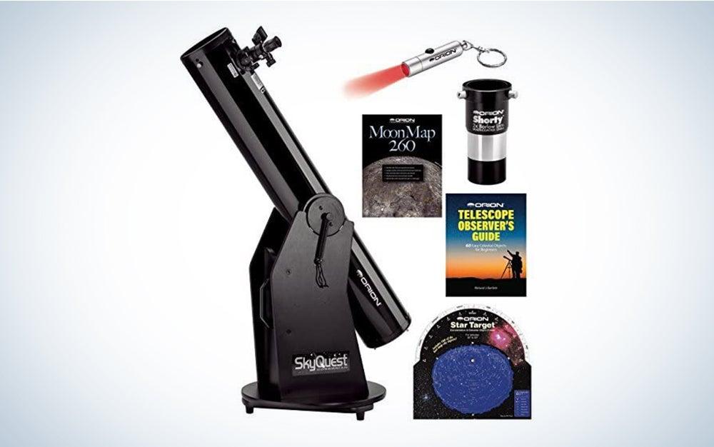 The Orion SkyQuest XT6 Classic Dobsonian Telescope Kit is the best beginner kit.