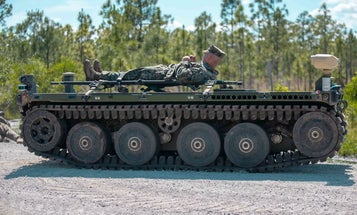 This robotic stretcher could transport wounded Marines off future battlefields