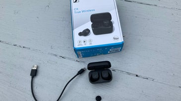 CX True Wireless earbuds with box and accessories