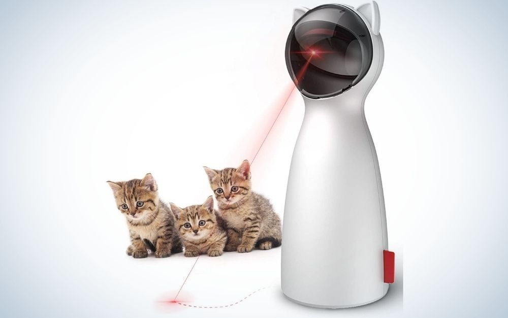 The Goopaw Interactice Laser Toy is our pick for extra stimulation for your kitty.