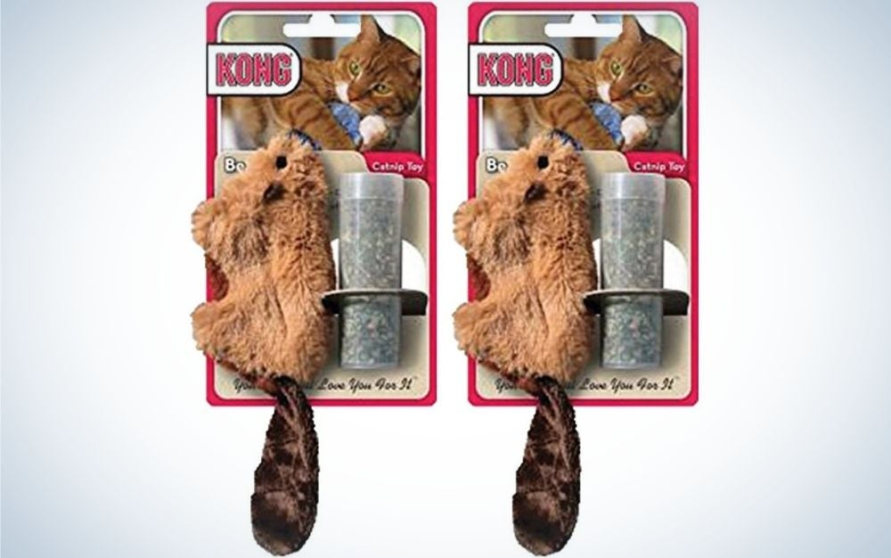 The KONG Beaver Refillable Catnip Toy is the best chewy cat toy.