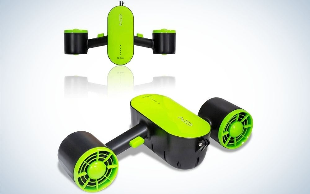 The Longtime Dual Propeller Underwater Swimming Scooter is the best for kids.