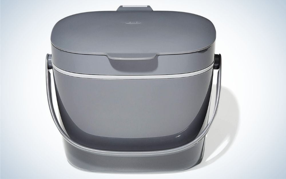 The NEW OXO Good Grips compost bin is the best for apartment dwellers.