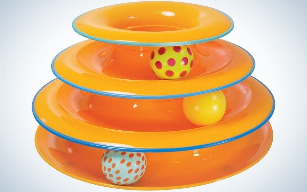 The Petstages Cat Tracks Toy is the best cat toy on a budget.
