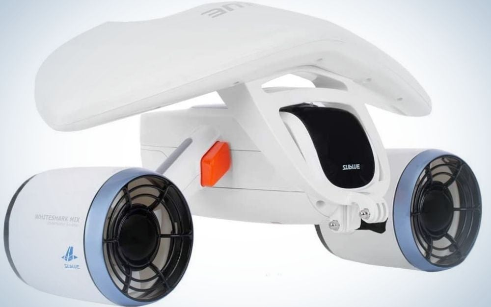 The suBlue WhiteShark Mix Underwater Scooter is the best for maximum depth.