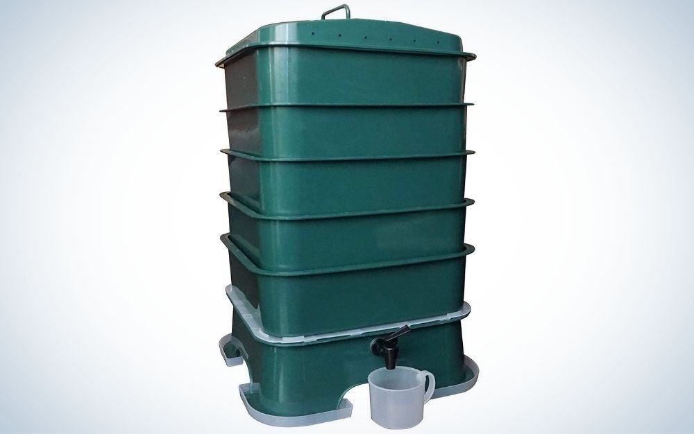 The VermiHut Plus is the best compost bin for yard owners