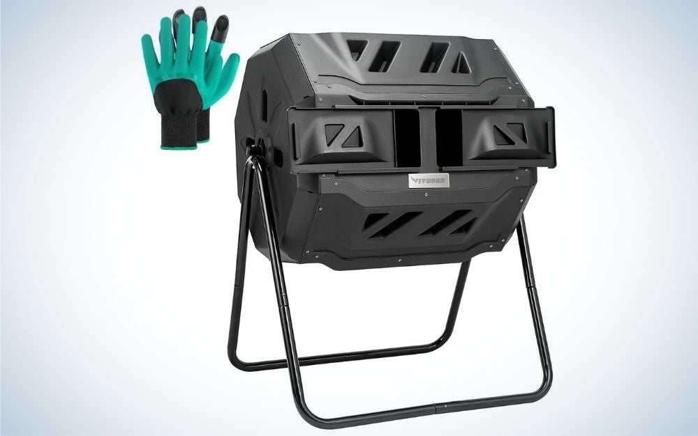 The VIVOSUN Tumbling Compost Bin is our pick for best overall.
