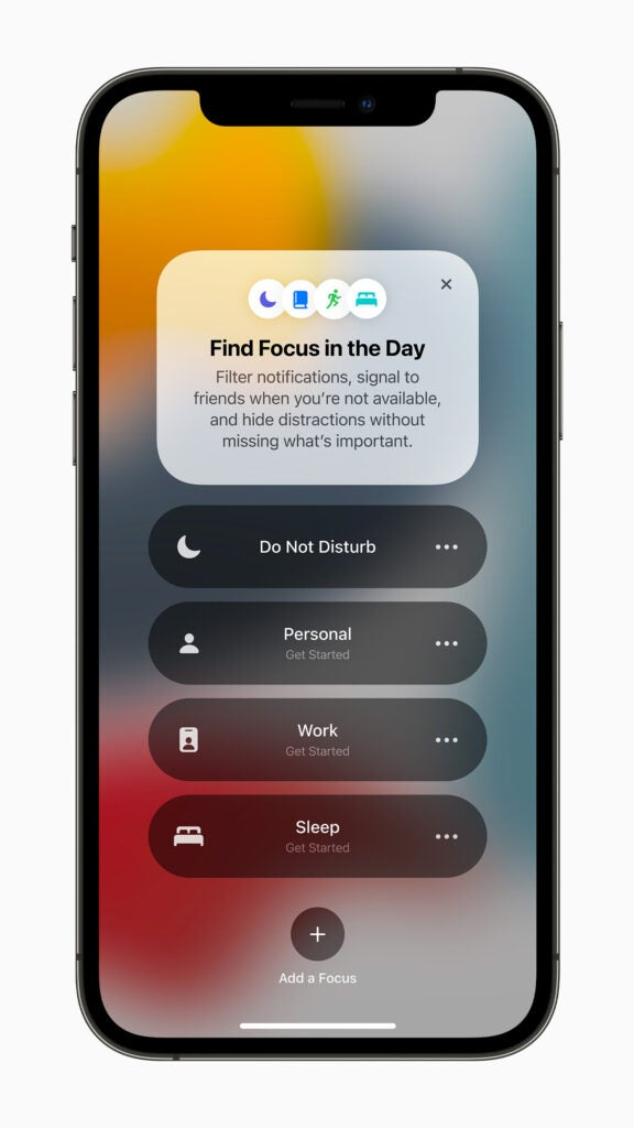 What's coming in iOS 15 is focus mode