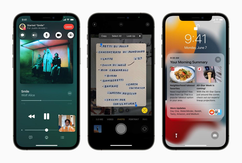 iOS 15 updates