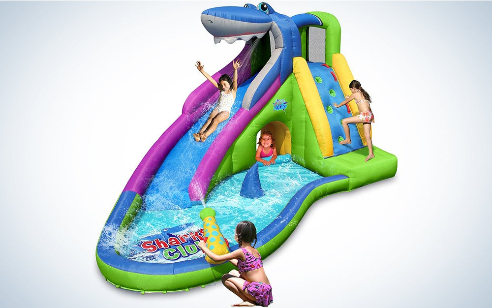 The Action Air Inflatable Waterslide is the best kiddie pool with a slide.