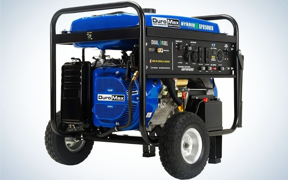 The DuroMax XP8500EH Dual Fuel Portable Generator is the best gas generator for homeowners.