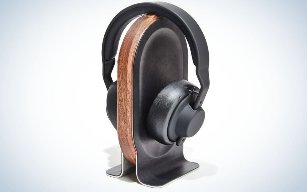 The Grovemade Wooden Headphone Stand is the best for the distinguished gentleman.