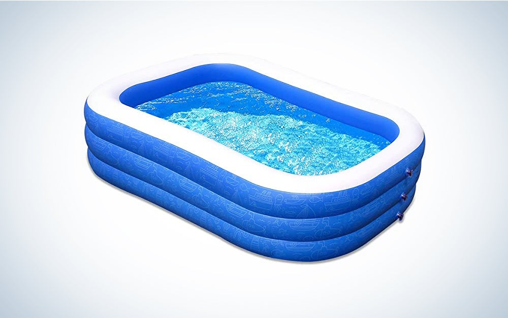 The Homech Inflatable Swimming Pool is the best inflatable kiddie pool.