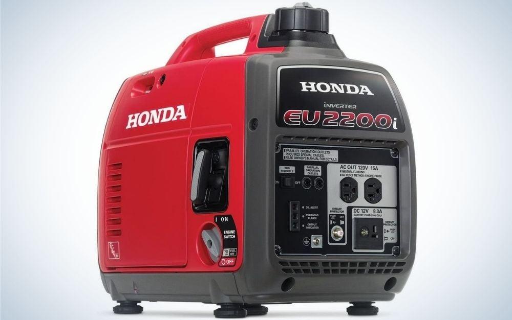 The Honda 662220 EU2200i Portable Inverter Generator is the best gas generator for travelers.