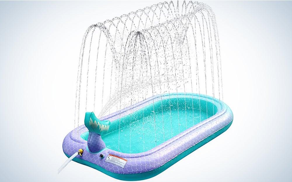 The Sprinkler and Splash Pad for Kids is the best splash kiddie pool.