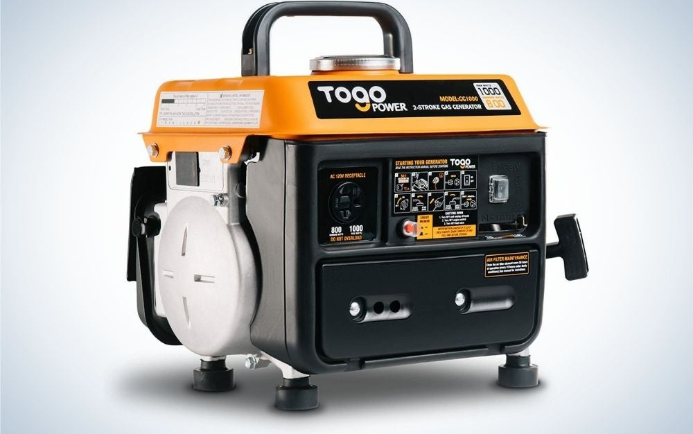 The TogoPower Portable Generator is the best gas generator for small appliances.