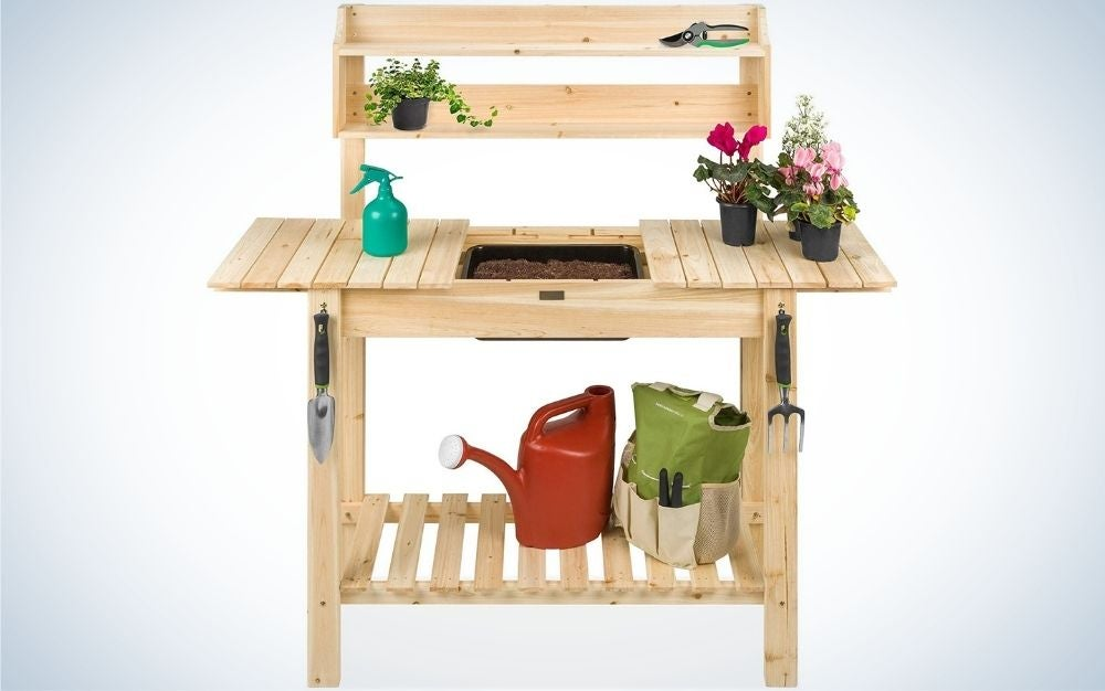 Best potting bench with garden tools