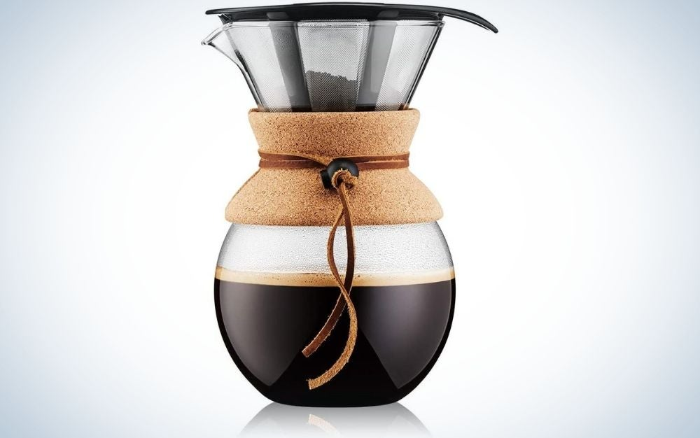 The Bodum 11571-109 is our pick for best pour over coffee maker.