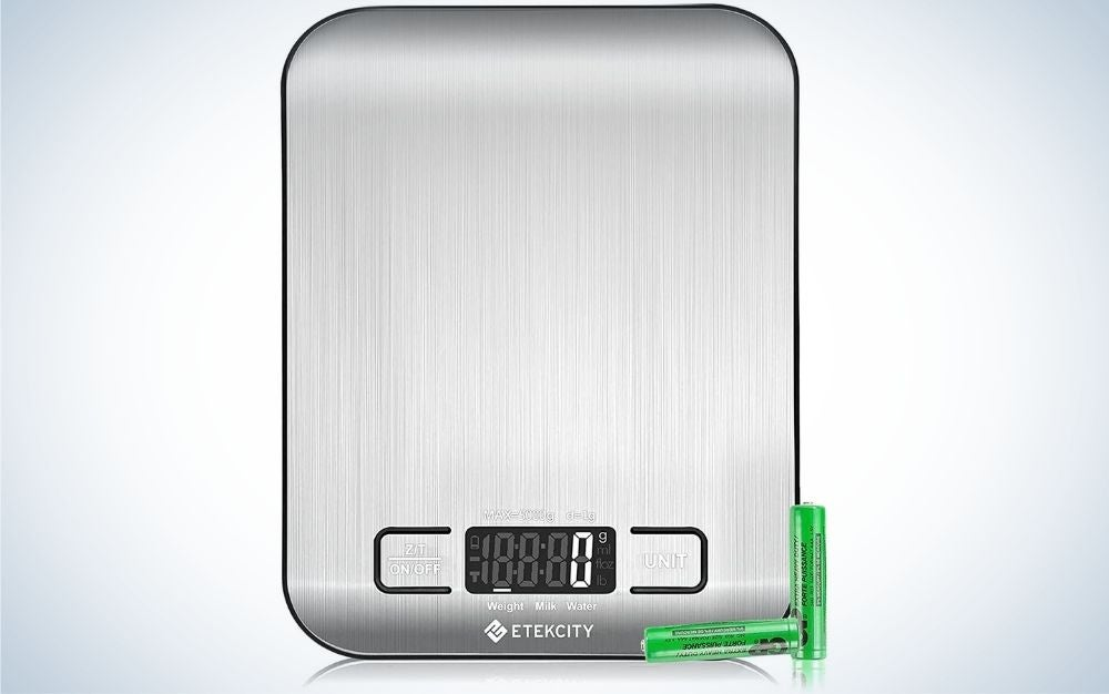 The Etekcity Food Kitchen Scale is the best kitchen scale for occasional bakers.
