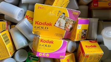 Kodak film boxes and canisters
