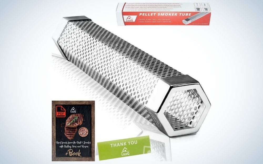 The LIZZQ Premium Pellet Smoker Tube is our pick for one of the best grill accessories for non-smokers.