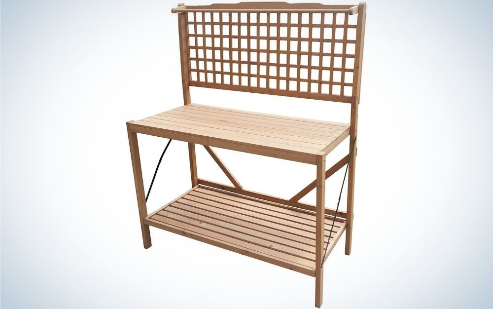 The Merry Garden Foldable Potting Bench is the best for apartment dwellers.