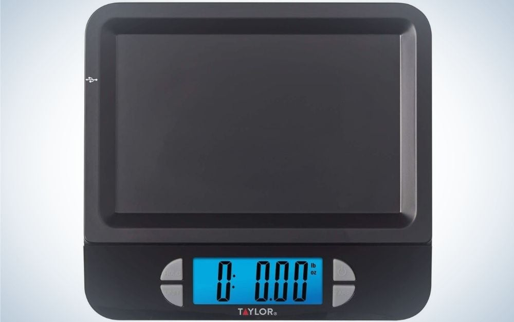 The Taylor 11-Pound Digital Scale is the best kitchen scale for apartment dwellers.