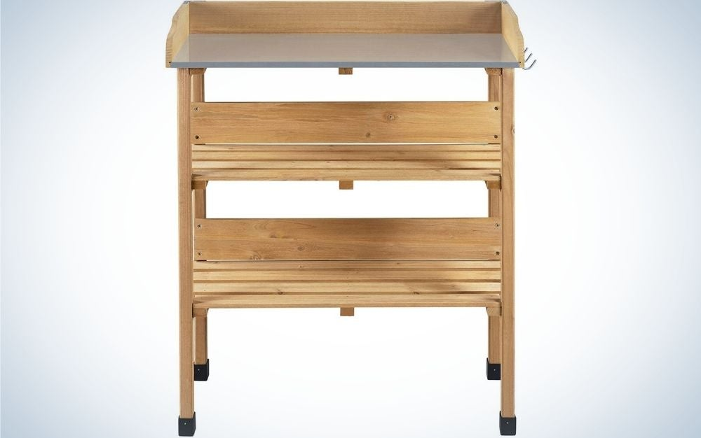 The Topeakmart Potting Bench Table is the best budget pick.