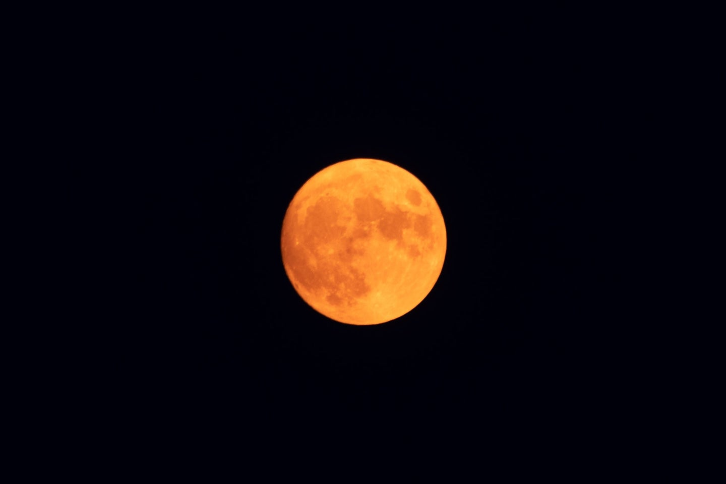 A red full moon.