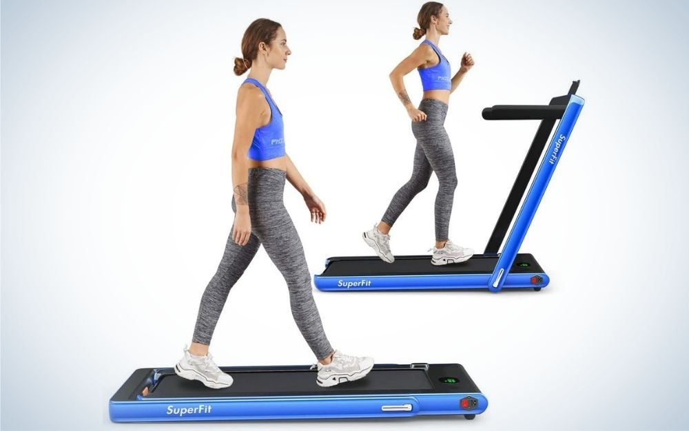 The GoPlus 2 in 1 Folding Treadmill is our pick for best treadmill desk.