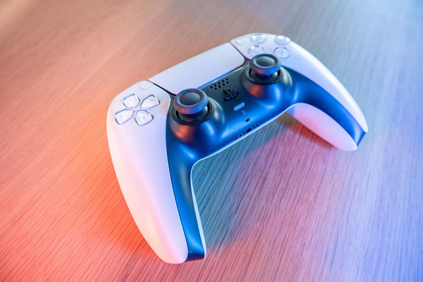 PS5 controller on a table