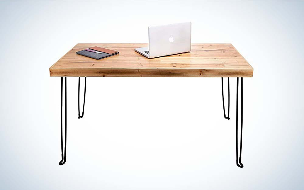 The Sleekform is the best no-assembly folding desk.