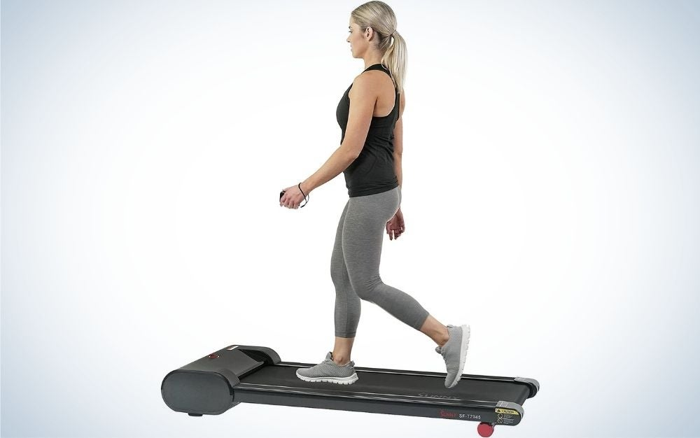 The Sunny Health and Fitness Walkstation is the best treadmill desk.