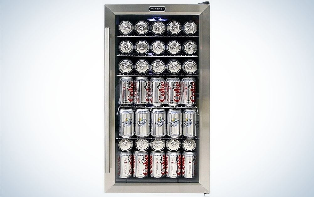 The Whynter BR-130SB Beverage Refrigerator is the best beverage cooler for beer and soda drinkers.