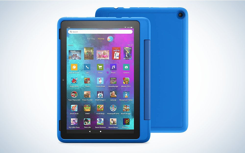 The Amazon Fire HD 10 Kids Pro Tablet is the best tablet for kids between seven and 10 years old.